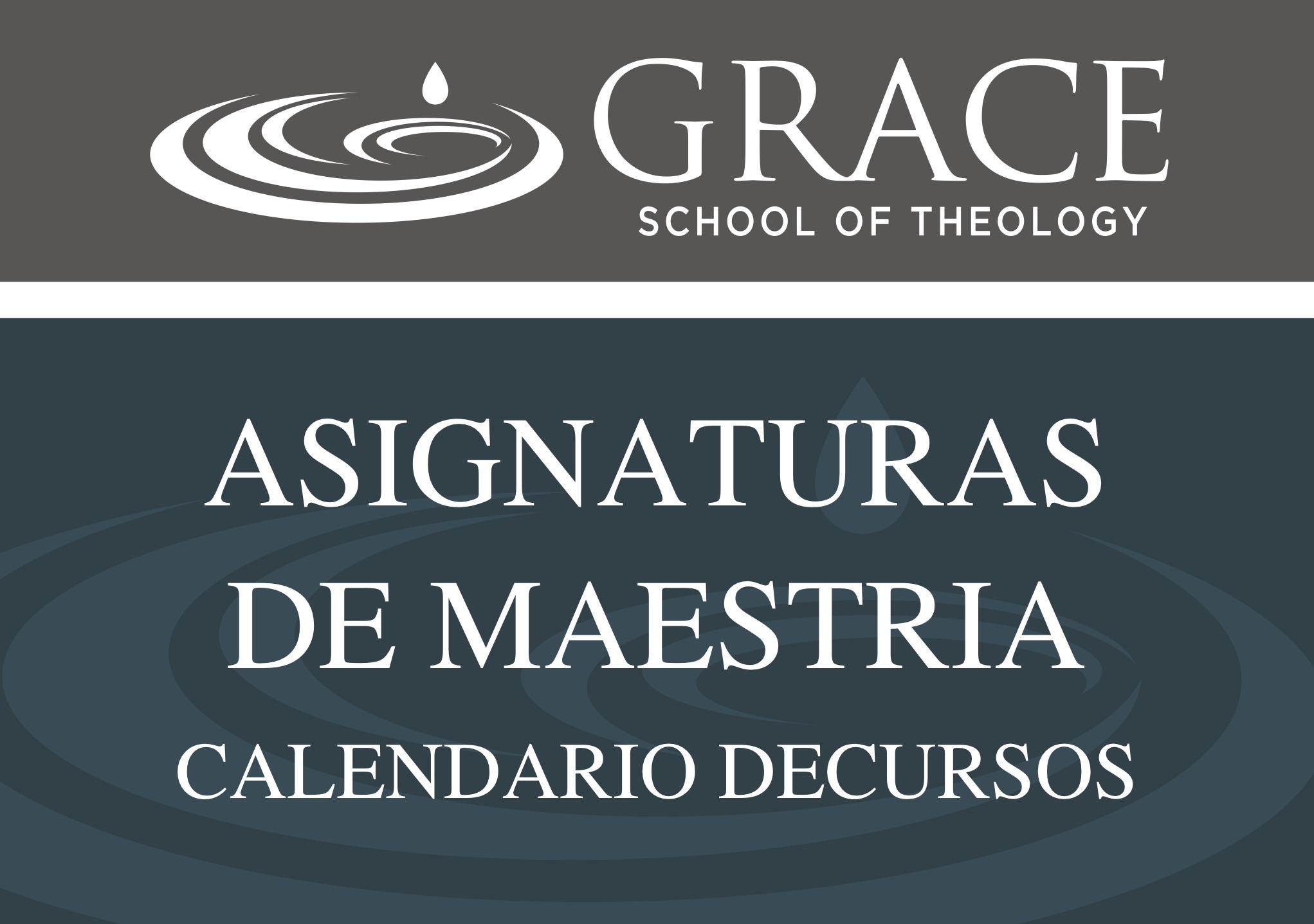 ASIGNATURAS DE MAESTRIA
