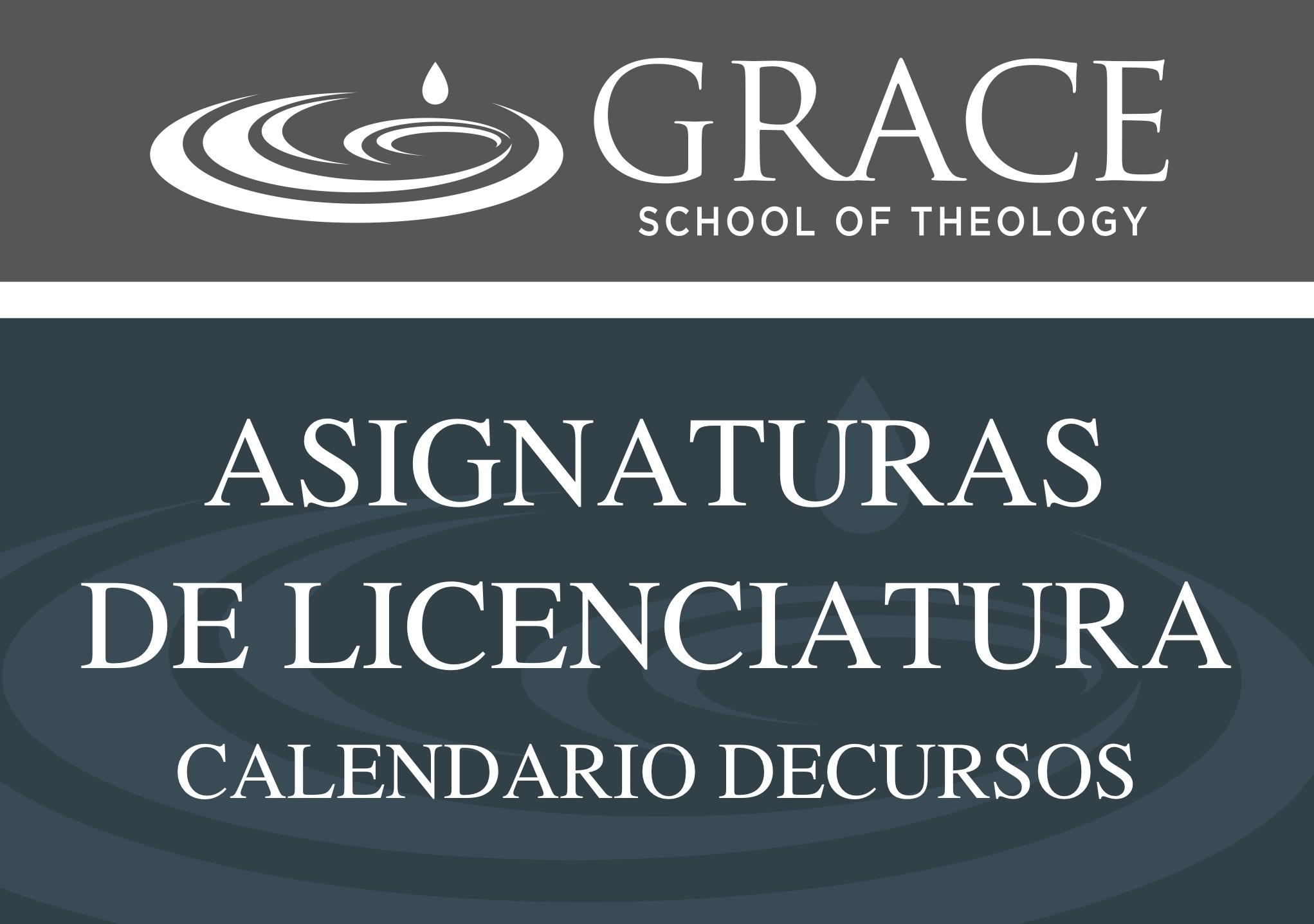 ASIGNATURAS DE LICENCIATURA